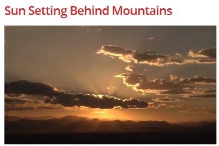 فوتیج غروب آفتاب از پشت کوه