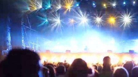 دانلود فوتیج ویدیویی استیج موزیک-Flashing Show DJ Lights