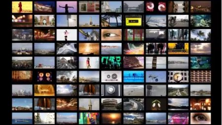 دانلود فوتیج دیوار مولتی مدیا-Multimedia Wall