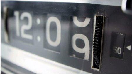 فوتیج گذشت زمان روی ساعت دیجیتال