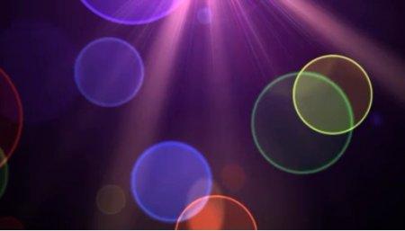 دانلود بک گراند موشن دایره های رنگی در نور بنفش