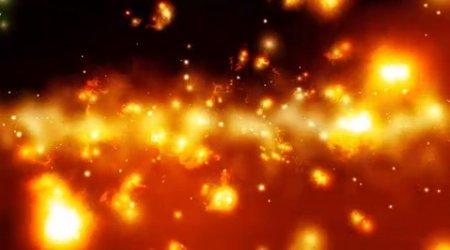 دانلود فوتیج حرکت پارتیکل های آتشی