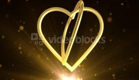 دانلود فوتیج قلب های طلایی