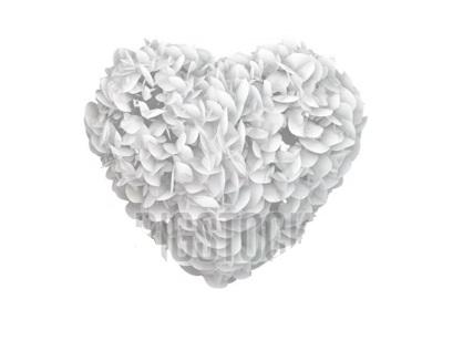 دانلود فوتیج کروماکی پاشیدن قلب درست شده از کاغذ های سفید