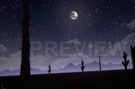 دانلود فوتیج حرکت ماه در آسمان بیابان